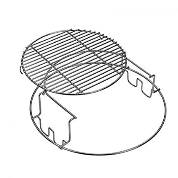 Big Green Egg dodatni INOX nastavek za dvonivojsko pečenje za Large