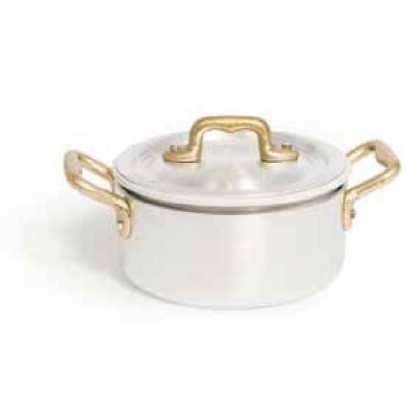 SET ALU posoda 12 cm z dvema ročajema + keramična posoda + pokrovka