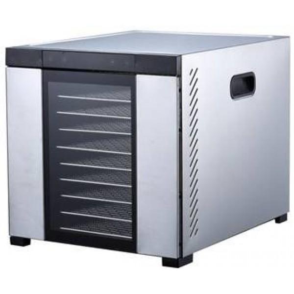Profesionalni dehidrator - sušilnik iz nerjavečega jekla z 10 pladnji 1000W