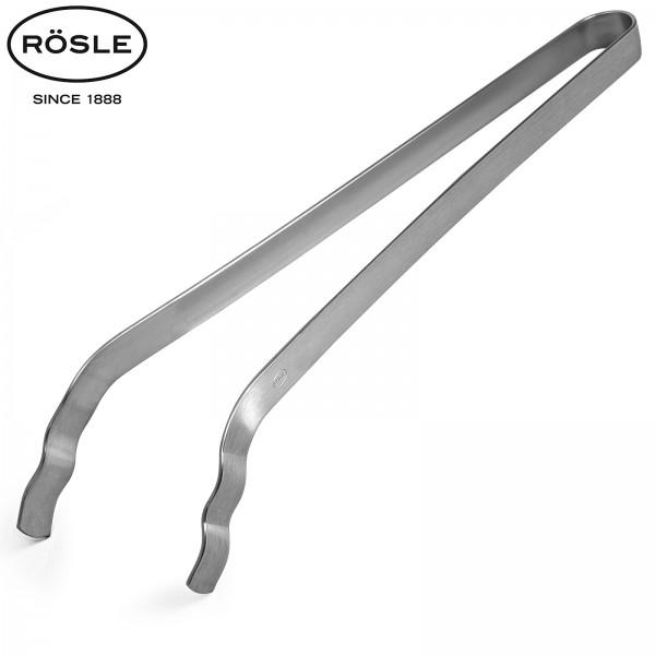 Roesle INOX ukrivljene klešče za žar dolžine 36 cm