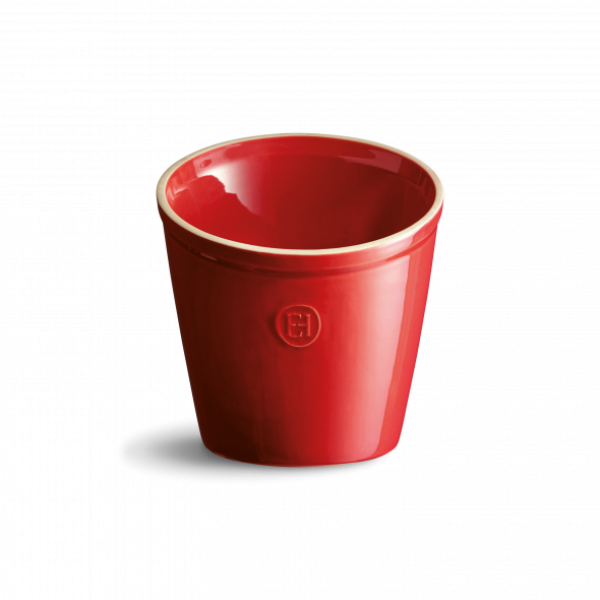 Emile Henry keramična posoda za shranjevanje kuharskih pripomočkov - Rdeča