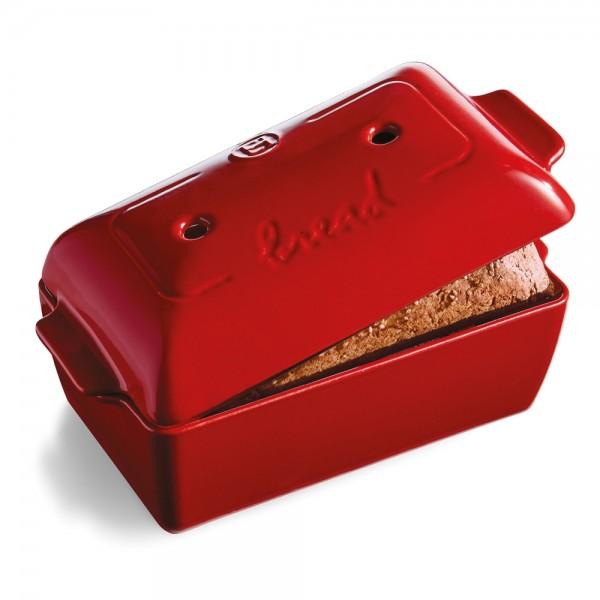Emile Henry keramična specialna posoda za peko kruha 23 x 13 x 12 cm Rdeča
