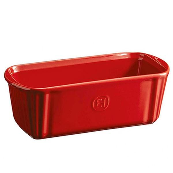 Emile Henry manjši keramični podolgovati pekač 23,5 x 10,5 x 8 cm Rdeč
