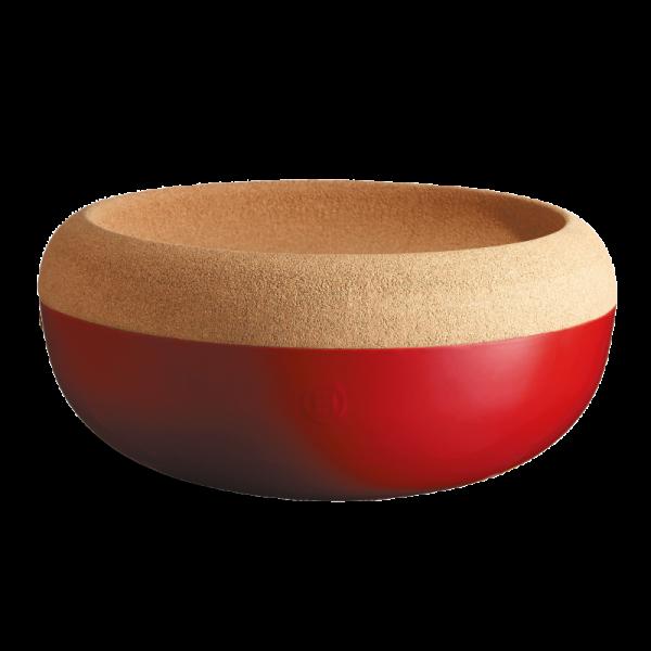 Emile Henry velika keramična posoda za shranjevanje s pokrovom iz Plute Rdeča