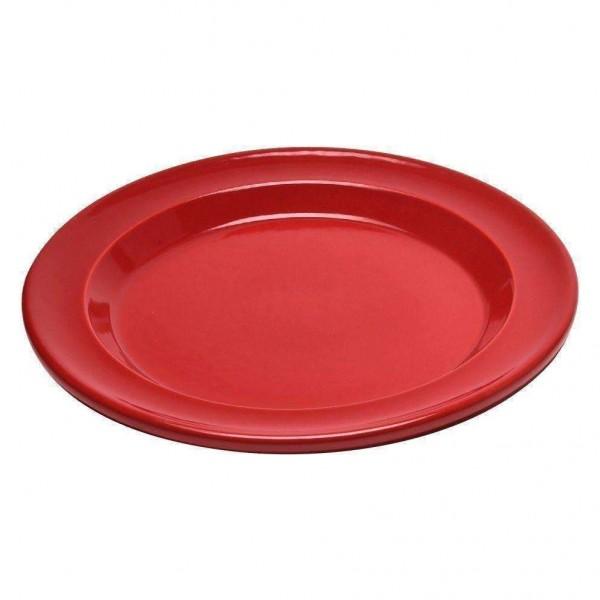 Emile Henry keramični solatni / desertni krožnik premera 21 cm Rdeč