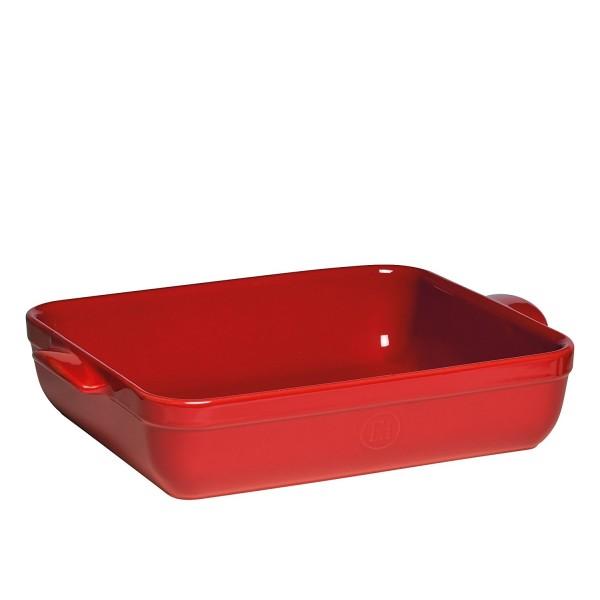 Emile Henry keramična posoda za peko - pekač 35 x 25.5 x 7 cm Rdeč