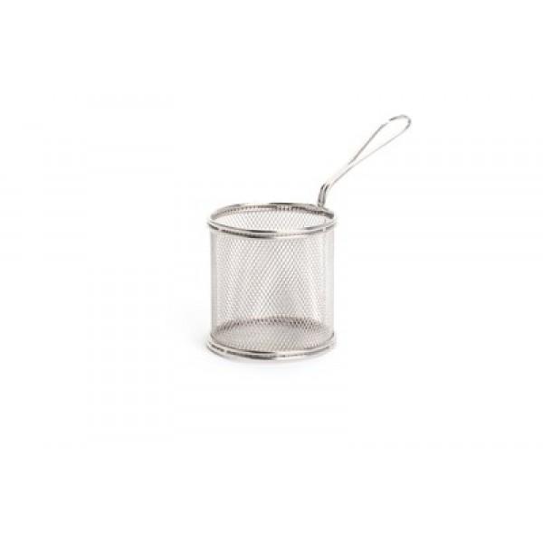 Košarica miniatura za serviranje hrane okrogla ø90 inox