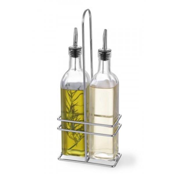 SET za olje in kis 2x237 ml s podstavkom