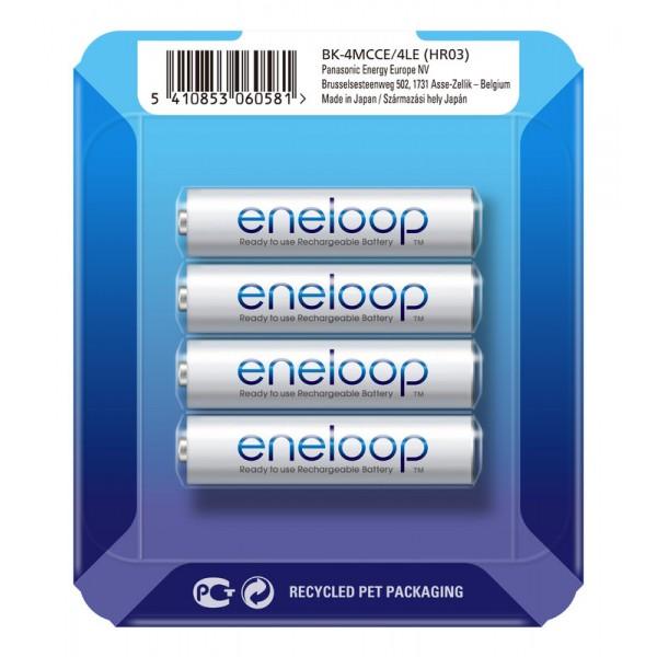 Panasonic ENELOOP polnilne baterije 4x AAA 800mAh v drsnem pakiranju