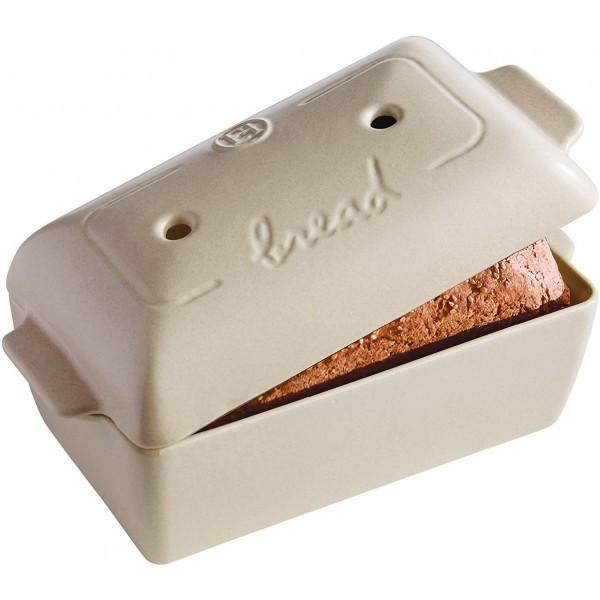 Emile Henry keramična specialna posoda za peko kruha 28x13x12 cm Peščena