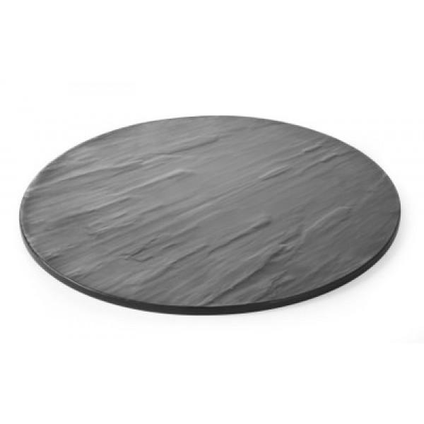 Servirni okrogli pladenj ø430 mm iz melamina in reliefno strukturo
