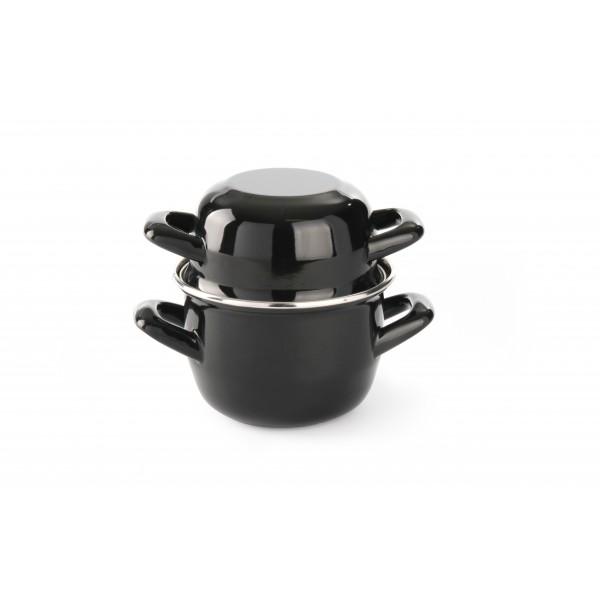Posoda dvodelna 0,8 l za kuhanje školjk in omak  Ø120