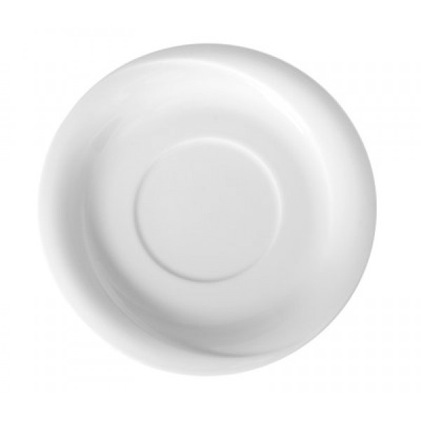 Krožnik za jušno skodelico premera 190 mm iz belega hotelskega porcelana Exclusiv