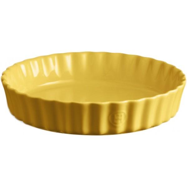 Emile Henry globoka keramična posoda za peko pit premera 24 cm Provence rumena