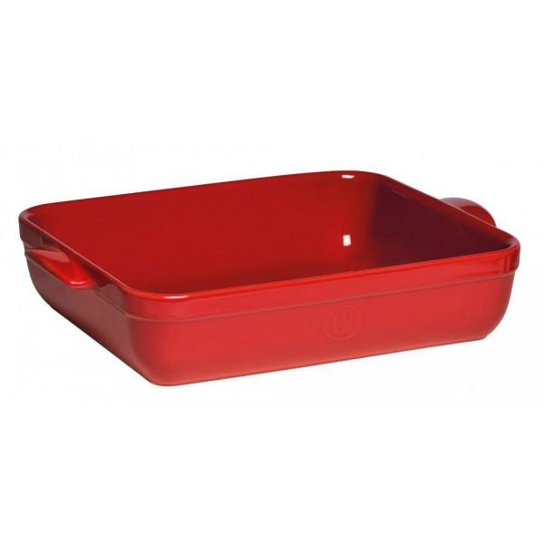 Emile Henry keramična posoda za peko - pekač 42,5 x 28 x 8 cm Rdeč
