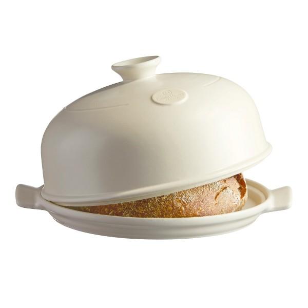 Emile Henry keramična specialna posoda za peko kruha - CLOSHE 33,5 x 28,5 x 16 cm peščena