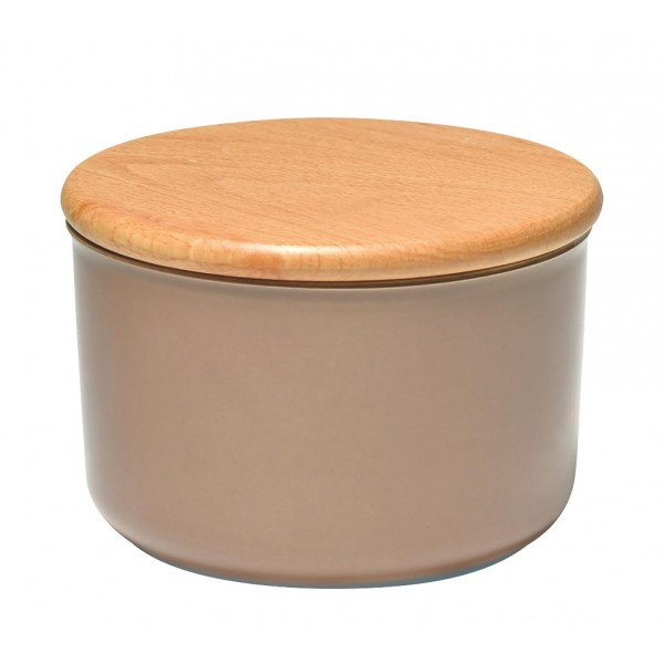 Emile Henry keramična posoda za shranjevanje s pokrovom 1 l barve hrasta