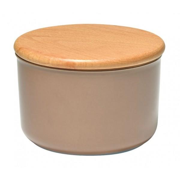 Emile Henry keramična posoda za shranjevanje s pokrovom 0,5 l barve hrasta
