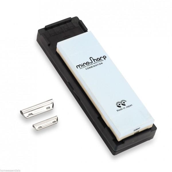 MinoSharp komplet za ostrenje s kombiniranim kamnitim medijem 1000 / 8000 super fine MS-472