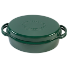 Litoželezna ovalna emajlirana posoda GREEN DUTCH OVEN 5,2l