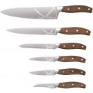Roesle SET kakovostnih nožev Sansibar z lesenim orehovim ročajem