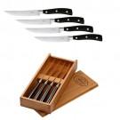 Roesle komplet 4 nožev za steak z rezilom 11,7 cm ter v leseni škatli