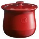 Emile Henry keramični lonec za kuhanje juhe - jušnik 4 l rdeči