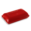 Emile Henry keramična posoda za peko kruha - Ciabatt Rdeča