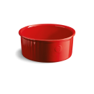 Emile Henry keramična okrogla posoda za Soufle premera 23 cm - Rdeča