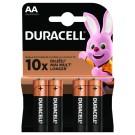 Duracell baterijski vložek Duralock Basic LR6 AA 4 pak blister