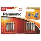 Panasonic 8 x Alkalne PRO Power baterije LR03/AAA