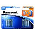 Panasonic Vrhunske Alkalne EVOLTA baterije LR03/AAA 8 pak