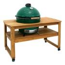 Miza iz lesa akacije na kolesih za Big Green Egg model XLarge