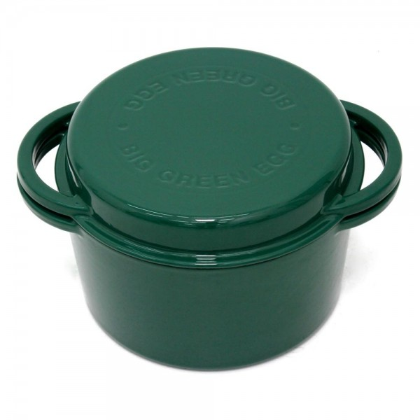 Litoželezna okrogla emajlirana posoda GREEN DUTCH OVEN 4l