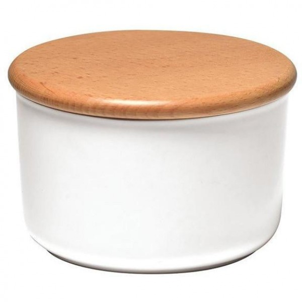 Emile Henry keramična posoda za shranjevanje s pokrovom 0,5 l bela