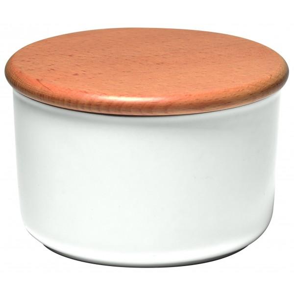 Emile Henry keramična posoda za shranjevanje s pokrovom 0,3 l bela