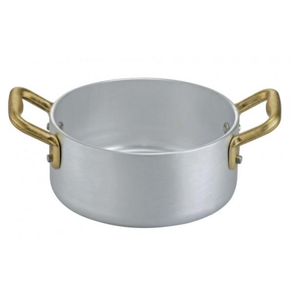 Mini ALU posoda za omako premera 12 cm in dvemi ročaji