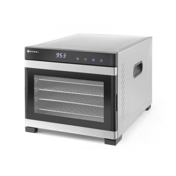 Profesionalni dehidrator - sušilnik iz nerjavečega jekla z 6 pladnji 650W