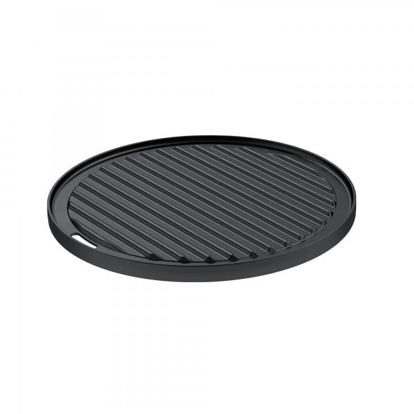 Roesle dvostranska litoželezna okrogla plošča za peko premera 30 cm