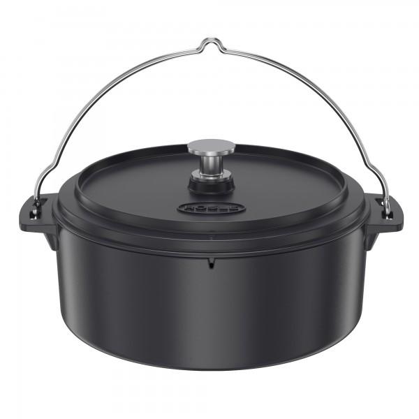 Roesle litoželezna okrogla posoda premera 35 cm, 8,5 l s pokrovom Dutch oven