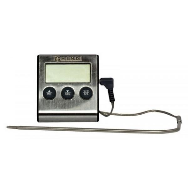 Digitalni termometer za pečenje s časovnikom