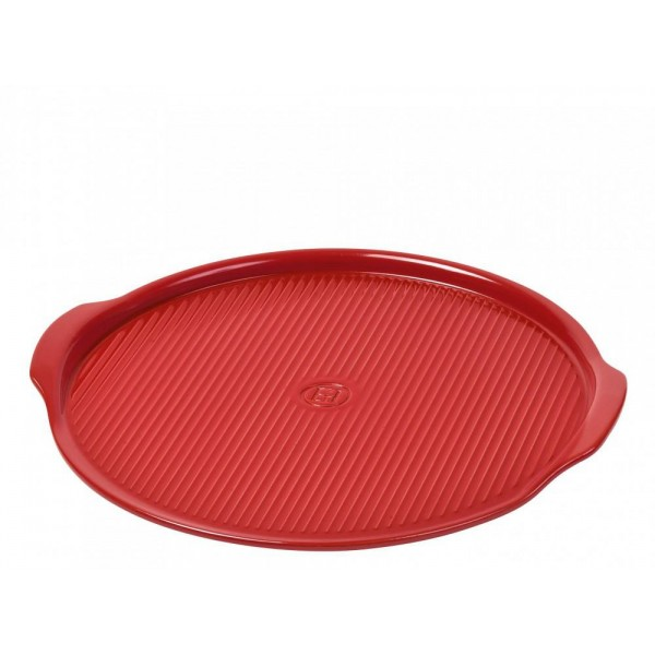 Emile Henry keramična plošča za peko pizz medium Ø 32cm Rdeča