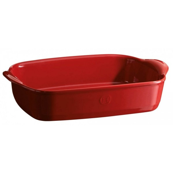 Emile Henry keramična posoda za peko - pekač 36 x 23 x 7 cm Rdeča