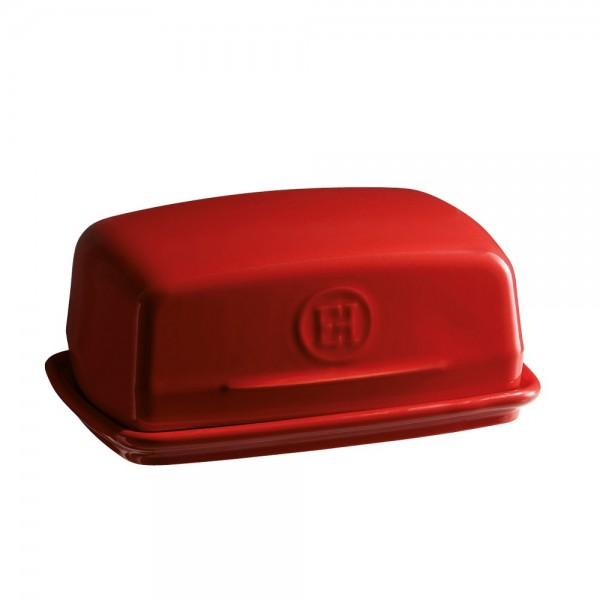 Emile Henry keramična posoda za maslo, Rdeča