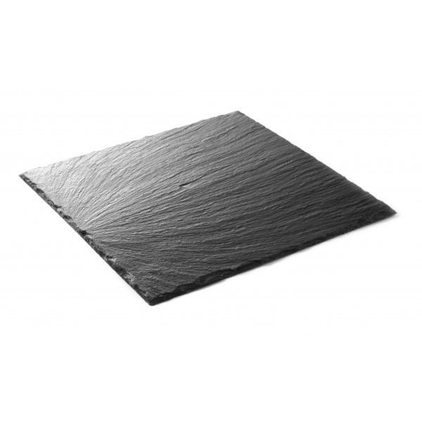 Servirni krožnik iz naravnega materiala oglati 250 x 250 mm 2 Pak