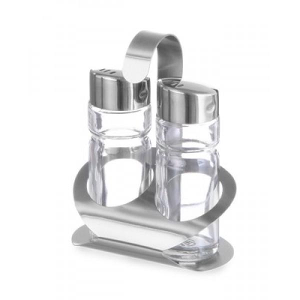 SET za začimbe 2 delni za sol in poper s podstavkom
