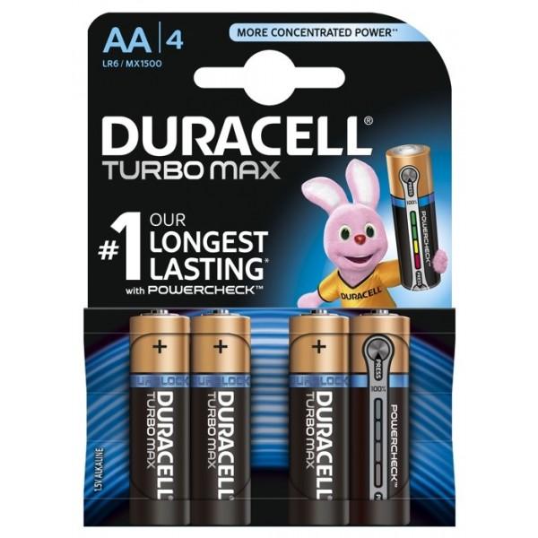 Duracell baterijski vložek Turbo Max AA, LR6 4 pak