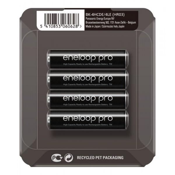 Panasonic Eneloop PRO polnilne baterije AAA 930 mAh v drsnem pakiranju