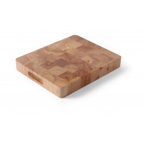 Deska za rezanje iz lesa Kavčukovca 530 x 325 mm in ročaji