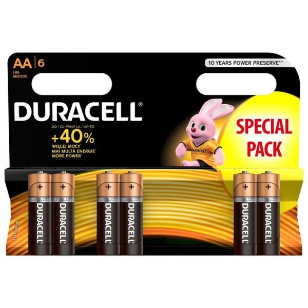 Duracell baterijski vložki LR6 AA Duralock 6 pak Blister